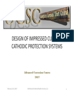 Design of Impressed Current Cathodic Protection System