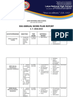 Laiya Nhs Ssg Annual Work Plan Report