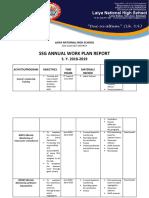 Laiya Nhs Ssg Annual Work Plan Report