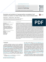 [Doi 10.1016_j.jhydrol.2015.09.038] J. Chang; G. Wang; T. Mao -- Simulation and Prediction of Suprapermafrost Groundwater Level Variation in Response to Climate Change Using a Neural Network Mo