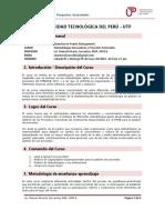 Silabo Metodologias Innovadoras y Proyectos Sectoriales