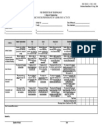 Rubric for Fieldwork