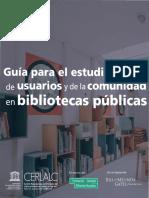 Guía Estudio de Usuarios Bibliotecas Públicas