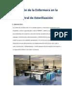 Función de La Enfermera en La Central de Esterilización