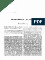 Dewey-Edward Shils a Last Harvest