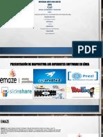 Presentación de Diapositiva Los Diferentes Software en Linea