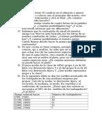 Problemas Estadísitcia y Combinatoria