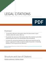 Legal Citations u 1