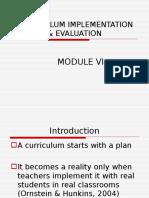 Curriculum Implementation & Evaluation