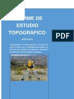 Informe Topográfico abastecimiento
