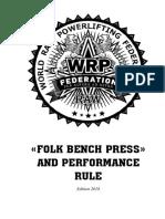 WRPF Folk Bench Press Rule 2018