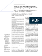 Evaluación del valor de la proteína C reactiva y de la procalcitonina en la predicción de infección y mortalidad en los niños quemados