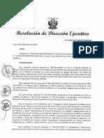 Resolucion directoral ejecutiva MIDIS