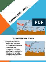 TRANSPORTACION   EOLICA