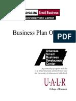 Biznis Plan - Outline