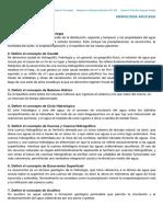 3 Hidrología Aplicada - Conceptos y Definiciones - Estudiantes