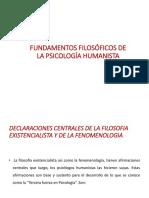 Fundamentos Filosóficos de La Psicología Humanista