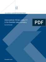 Discharge From Liability in the Swedish Listed Company
