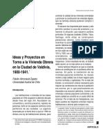 Almonacid (2000). Ideas y Proyectos en Torno a La Vivienda Obrera en La Ciudad de Valdivia 1900 - 1941
