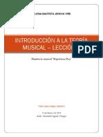 Introduccion a la musica - Leccion Uno