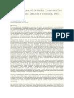 La Revista Eco Contemporáneo- Creación y Conexión, 1961-1969.