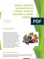 Localización, Sectores Productivos en Colombia, Recursos
