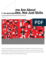 Great Teams Are About Personalities, Not Just Skills