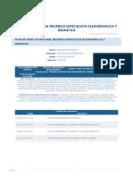 Perfil Competencia Mecanico Especialista Oleohidraulica y Neumatica