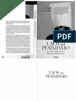 Roger Scruton-Usos Del Pesimismo