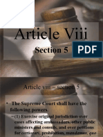 Article 8. Sec 5