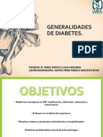 Generalidades Diabetes.  ADA 2018