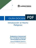 100092 Introducción Al Hecho Religioso