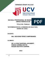 Informe Para Diseño de Canal de Cañete