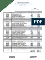 Distribuidora Terrero Invoice 25416