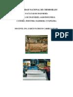 Asignatura de Industria Maderera y Papelería.