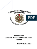 Memoria Atenció Precoç Solidària (castellano)