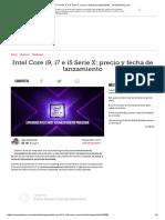 Intel Core i9, i7 e i5 Serie X_ Precio y Fecha de Lanzamiento - ComputerHoy.com