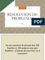 Resolución de problemas - 4° Básico