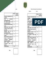Rúbrica de Evaluación Ciencias Naturales Disertacion