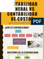 Contabilidad General vs Contabilidad de Costos