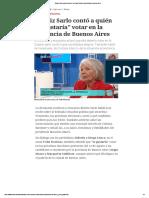 Beatriz Sarlo Contó a Quién Le _gustaría_ Votar en La Provincia de Buenos Aires