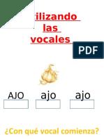 Vocales Pre Kinder