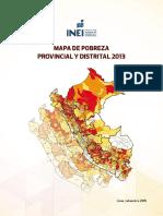 INEI Mapa Pobreza 2013