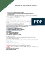 Perfil Del Proyecto de Investigación Maestria
