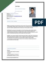 Curriculum Vitae Kevyn Proaño
