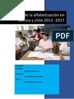 analfabetismo  Bolivia