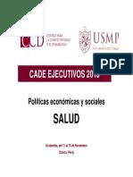 POLÍTICAS ECONÓMICAS Y SOCIALES (SALUD)