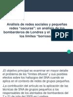 Análisis de redes sociales y pequeñas redes oscuras