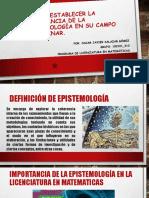 Final - Establecer La Importancia de La Epistemología