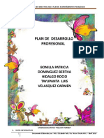 Plan de Desarrollo Profesional